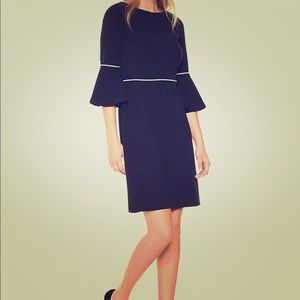 Tommy Hilfiger Bell Sleeve Dress with Gold Piping